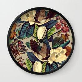 FLORAL AND BIRDS XXI-II Wall Clock