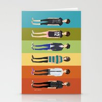 tegan and sara Stationery Cards featuring Tegan and Sara: Tegan collection by Cas.
