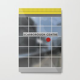 SCARBOROUGH CENTRE RT Station Metal Print