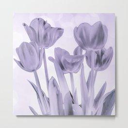 Tulips (b&w) Metal Print