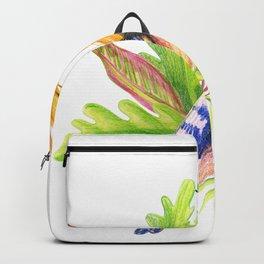 illustration of tropical hoopoe bird Backpack