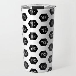 YES Dot/Dotted/Dots Pattern Travel Mug