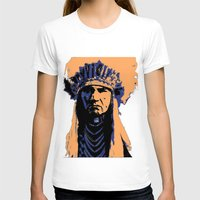 native american T-shirts featuring Native American Head Dress  by T.E.Perry