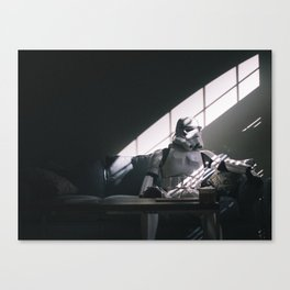 Stormtrooper Thoughts (Color) Canvas Print