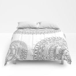 Exhilarating on White Background Comforters
