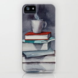 Coffee and book iPhone Case