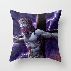 Zombie Messiah Throw Pillow
