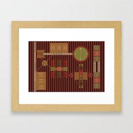 African Adinkra Owuo Atwedee Framed Art Print