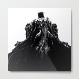 Berserk Guts with Beast of Darkness Metal Print