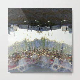 Opinions toppled over by points of view becoming policy. Metal Print