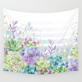 Summer Succulents Wall Tapestry