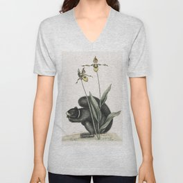 Weigler Rufons Magpie (Pica Vagabunga) Natives of Calcutta from Illustrations of Indian zoology (183 Unisex V-Neck