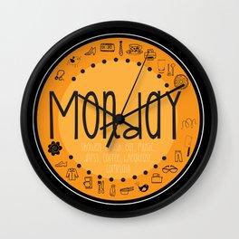 Monday Vibes Wall Clock