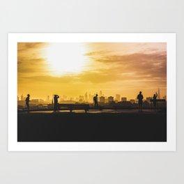 London Sunrise on Pimrose Hill Art Print