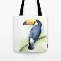 toucan Tote Bags featuring Toucan by Olechka