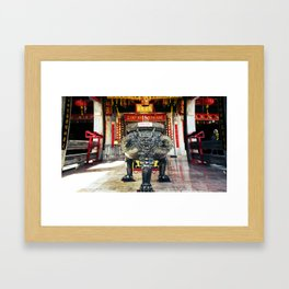 Chineese Temple Monument Framed Art Print