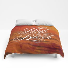Get high by the beach Comforters