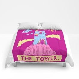 The Tower - A Femme Tarot Card Comforters