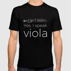 Yes, I speak viola Black Mens Fitted Tee MEDIUM