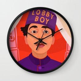 Lobby Boy Wall Clock