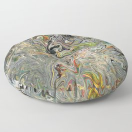 Abstract Oil Painting 25 Floor Pillow