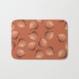 Orange big Clam pattern Illustration design Bath Mat
