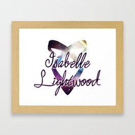 Isabelle Lightwood - Angelic Power Rune Framed Art Print