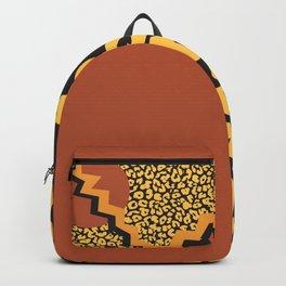 Leopard pattern in 80's style Backpack