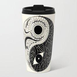 Yin & Yang - [collaborative art with Magdalla del Fresto] Travel Mug
