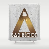 bastille Shower Curtains featuring Bastille #1 Bad Blood by Thafrayer