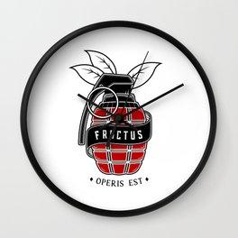 Fructus Operis Est Wall Clock