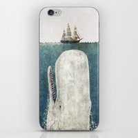 sea iPhone & iPod Skins featuring The Whale - vintage  by Terry Fan
