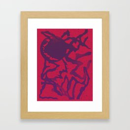 UDDER MOON Framed Art Print