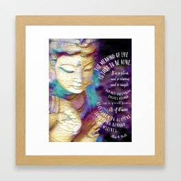 Meaning of life Framed Art Print