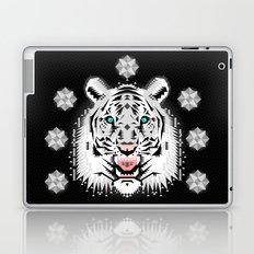 Silver Geometric Tiger Laptop & iPad Skin