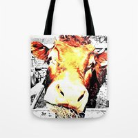 bull Tote Bags featuring Bull by TexasDesignsByAmy