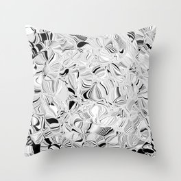 thinking in shades of gray Throw Pillow