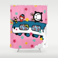 train Shower Curtains featuring train train train.... by Ziqi