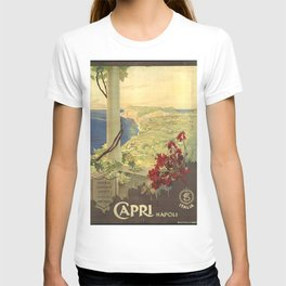 Capri, Napoli (Italy) - Vintage Poster T-shirt