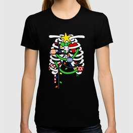 Christmas X-Ray Ribs Skeleton T-shirt