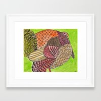 turkey Framed Art Prints featuring Turkey by Adrienne S. Price