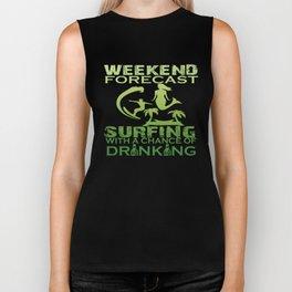 WEEKEND FORECAST SURFING Biker Tank