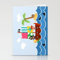 pirate ship Stationery Cards featuring PIRATE SHIP (AQUATIC VEHICLES) by Alapapaju