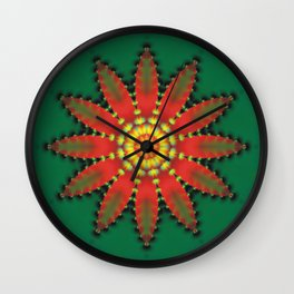CVF0060 Christmas Flower Fantasy Poinsettia Wall Clock