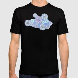 sea urchin blue watercolor T-shirt