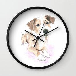 Jack russell terrier love Wall Clock