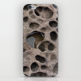 Seawall erosion at Weston-super-Mare iPhone Skin