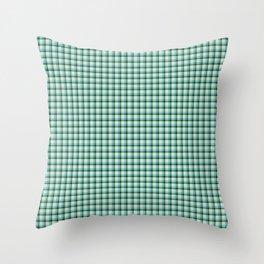 Green Aqua Scottish Tartan Throw Pillow