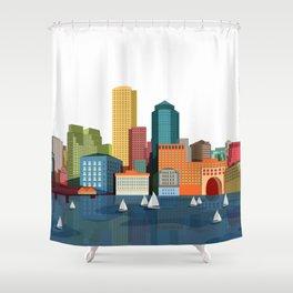 City Boston Shower Curtain