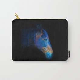 His Quiet Place II - Black Thoroughbred Percheron Carry-All Pouch